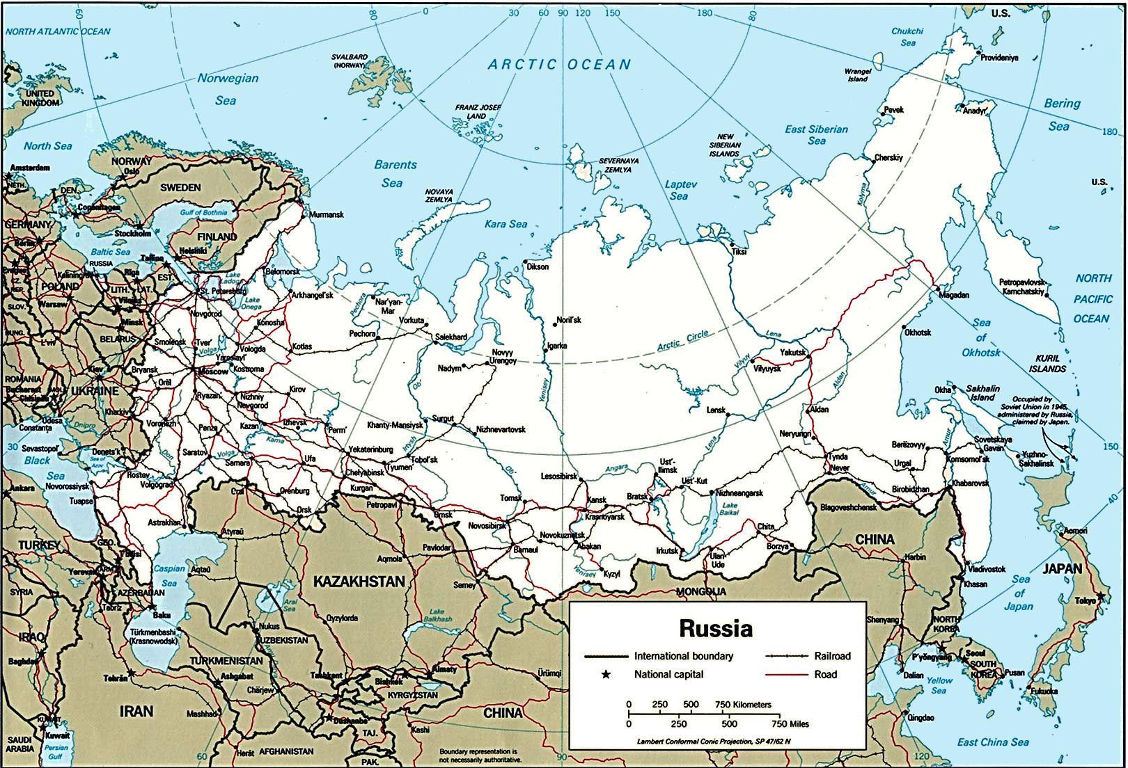 Rusland Og Det Naere Udland Kort Rusland Og I Naerheden Af Kort I