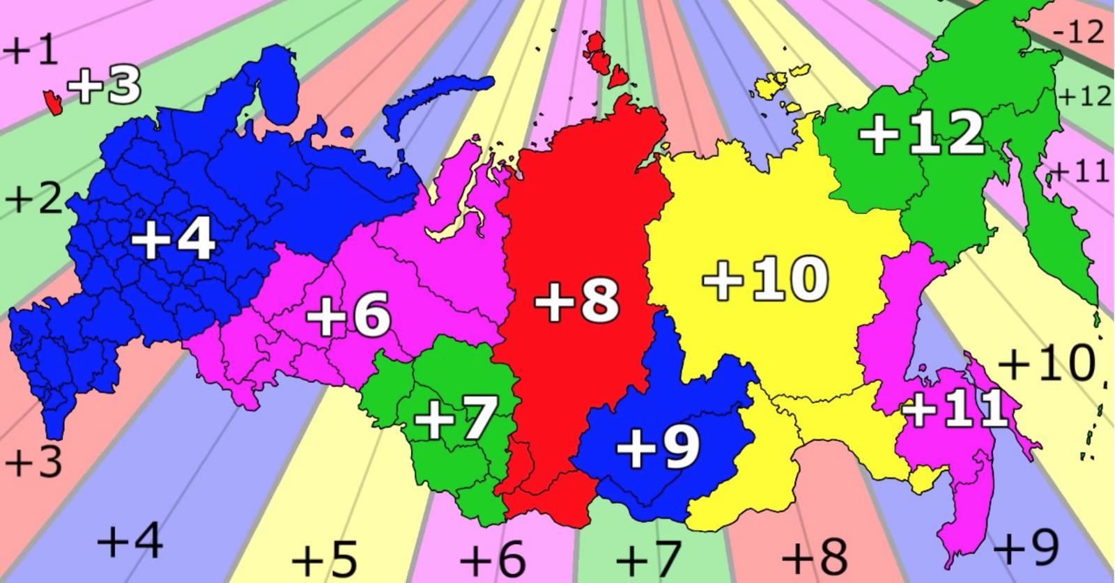 kort over tidszoner