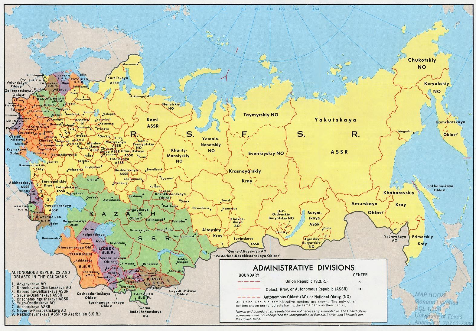 Sovjet Rusland Kort Kort Over Rusland Og Ostlige Europa Europa