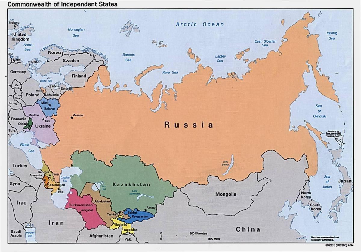 Kort Over Rusland I Dag Rusland Kort I Dag Det Ostlige Europa