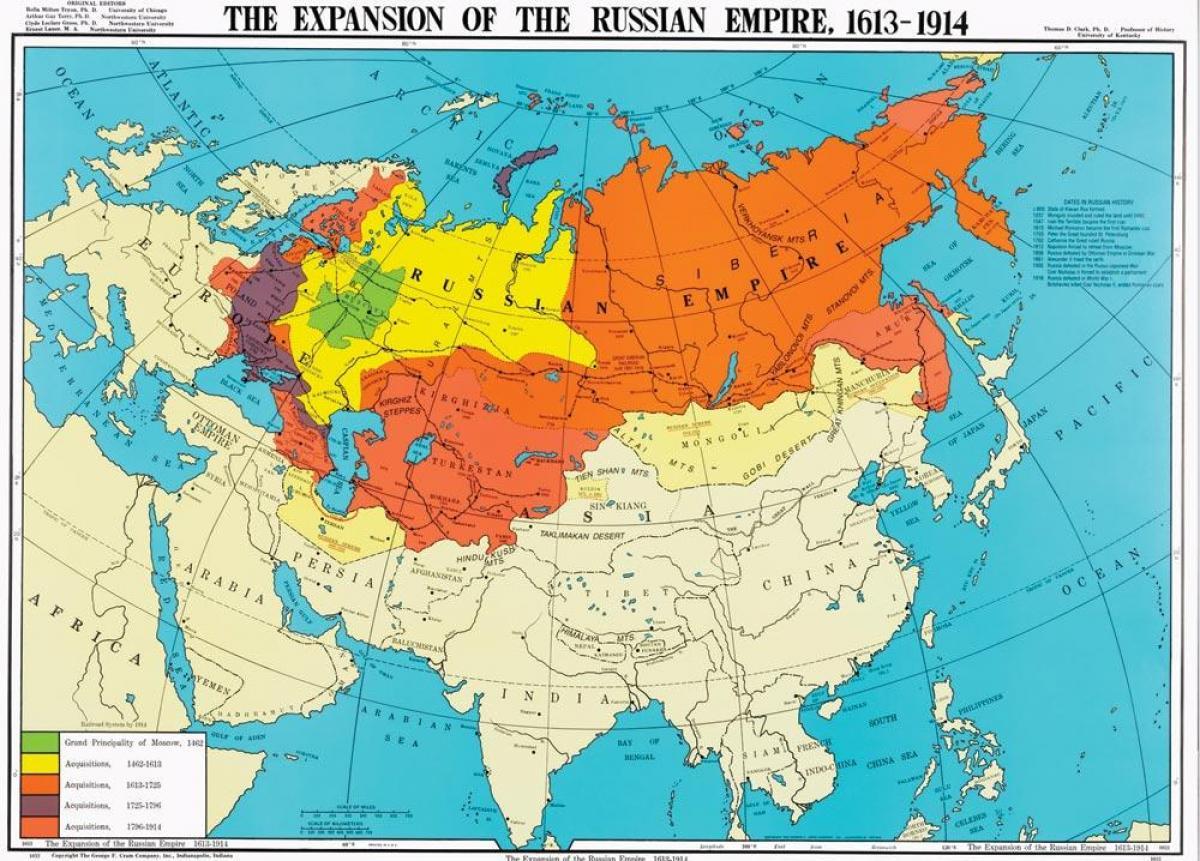 Rusland Kort 1914 Kort Over Rusland 1914 Ostlige Europa Europa